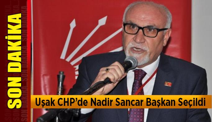Uşak CHP'de Nadir Sancar Başkan Seçildi