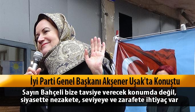 İyi Parti Genel Başkanı Akşener Uşak'ta Konuştu