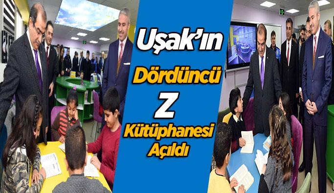 Uşak'ın 4. Z Kütüphanesi açıldı