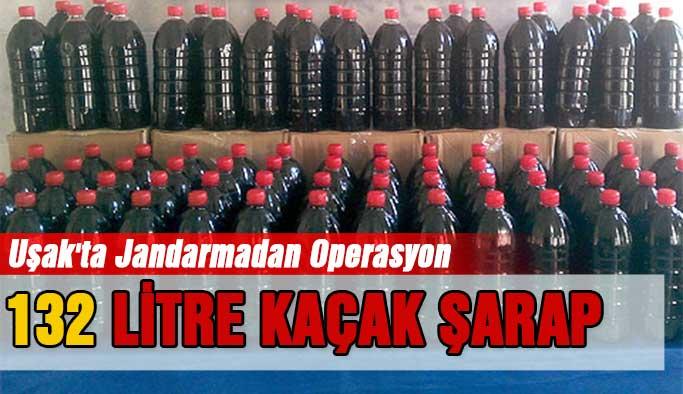Uşak'ta Jandarma Uygulamasında Sahte Şarap Ele Geçirildi