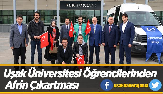 Uşak Üniversitesi Öğrencilerinden Afrin Çıkartması