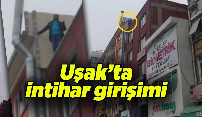 Uşak'ta intihar girişimini polis engelledi