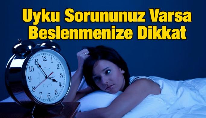 Uyku Sorununuz Varsa Beslenmenize Dikkat