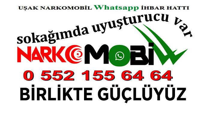 Uşak NARKO-MOBİL İhbar Hattı Aktif Olarak Kullanımda