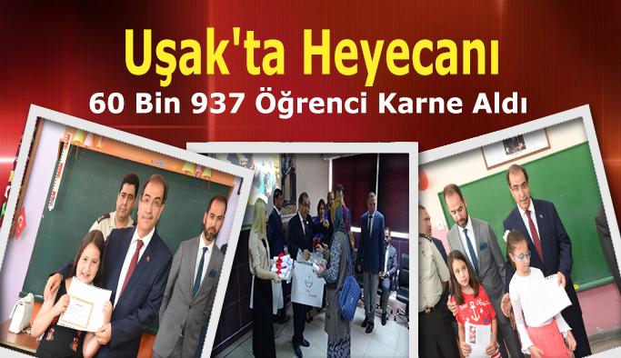 Uşak'ta 60 Bin 937 Öğrenci Karne Aldı