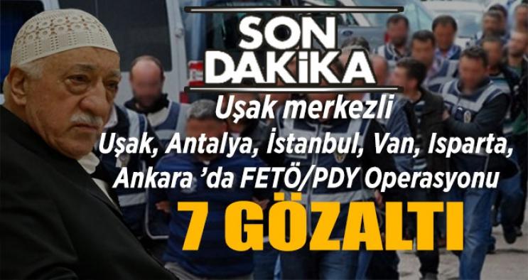 """Uşak Merkezli FETÖ'ye yönelik  """"Kripto"""" Operasyonu"""