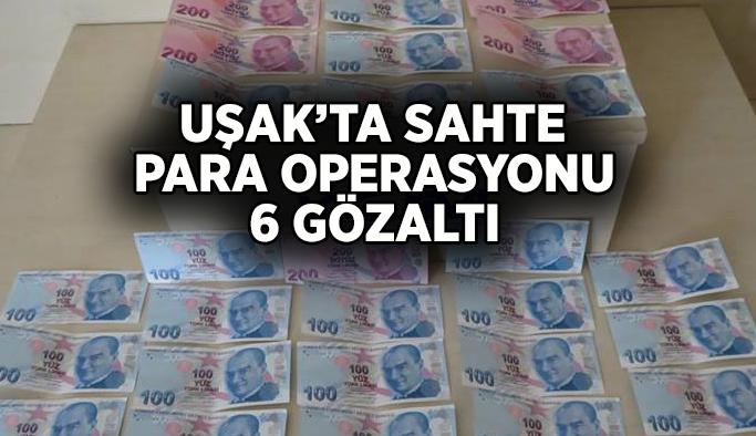 Uşak'ta sahte para operasyonu, 6 gözaltı