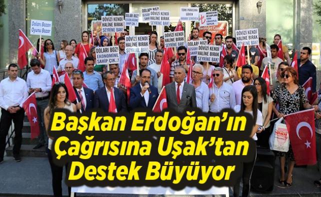 Uşak'tan, Başkan Erdoğan'ın Çağrısına Destek Büyüyor