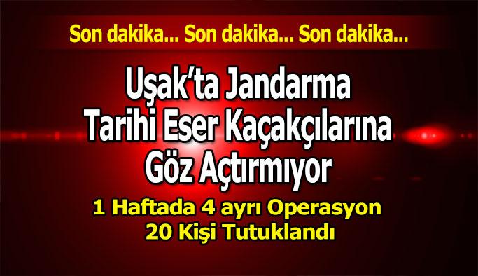 Uşak'ta Jandarma Tarihi Eser Kaçakçılarına Göz Açtırmıyor
