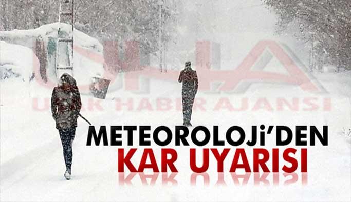 Meteorolojiden Uşak İçin Pazartesi Günü Kar Uyarısı Yapıldı