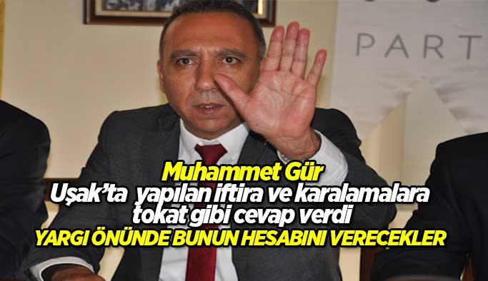 """Muhammet Gür, """"Türk Yargısı önünde bunun hesabını verecekler"""""""