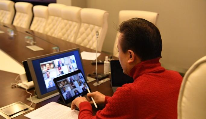 Başkan Yazıcı, koronavirüsle mücadeleyi video konferansla değerlendirdi