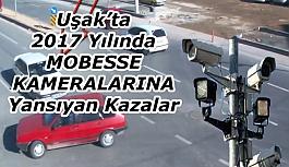 Uşak'ta ki trafik kazaları MOBESE kameralarına yansıdı