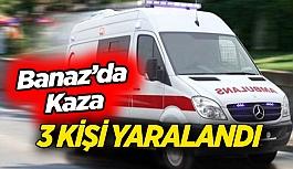 Uşak'ta kaza; 3 kişi yaralandı
