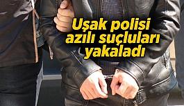 Uşak polisi azılı suçluları yakaladı
