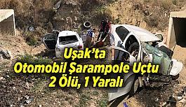 Uşak- Ankara yolunda kaza 2 ölü, 1 yaralı