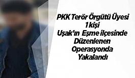 PKK Terör Örgütü Üyesi Eşme'de Yakalandı
