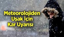 Meteorolojiden Uşak İçin Kar Uyarısı