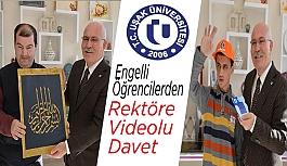 Engelli Öğrencilerden Rektöre Videolu Davet