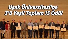 Uşak Üniversitesi'ne  3'ü  Yeşil Bayrak Toplam 13 Ödül