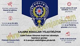 Polislerin Çalışma Koşulları İyileştiriliyor, 81 İl Emniyet Müdürlüğüne Genelge Gönderildi