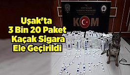 Uşak'ta 3 Bin 20 Paket Kaçak Sigara Ele Geçirildi