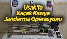 Uşak'ta Kaçak Kazıya Jandarmadan Operasyon