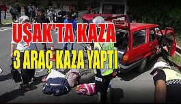 Uşak'ta kaza;  12 yaralı