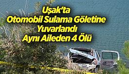 Uşak'ta Otomobil Sulama Göletine...