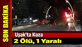 Uşak'ta Kaza 2 Ölü, 1 Yaralı