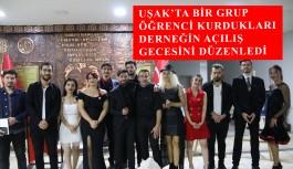 UŞAK'TA BİR GRUP ÖĞRENCİ KURDUKLARI...