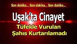 Uşak'ta Cinayet, Tüfekle Vurulan Şahıs...