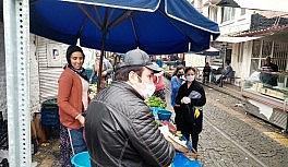 Aydın'da semt pazarlarına sosyal mesafe...
