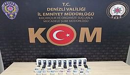 Denizli'de kaçak dezenfektan ve elektronik...
