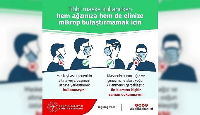 Sağlık Müdürlüğü'nden maske kullanım...
