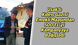Uşak'lı Kıbrıs Gazisi Emekli Maaşından...