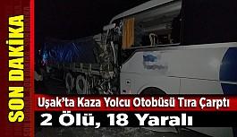 Yolcu otobüsü kamyona arkadan çarptı:...