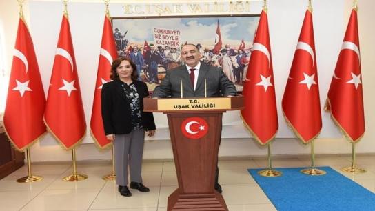 İşkur Genel Müdürü Cafer Uzunkaya, Uşak İl İstihdam ve Mesleki Eğitim Kurulu toplantısına katıldı
