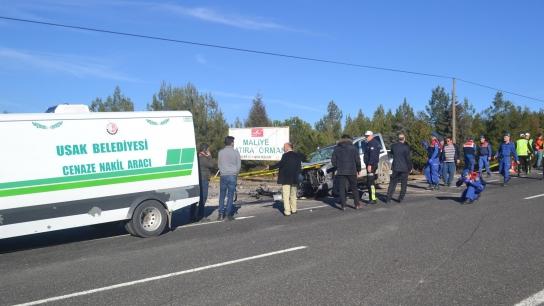 Uşak'ta feci kaza; 3 ölü, 1 ağır yaralı