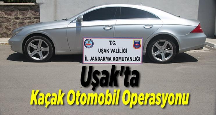 Uşak'ta, Kaçak Otomobil Operasyonu