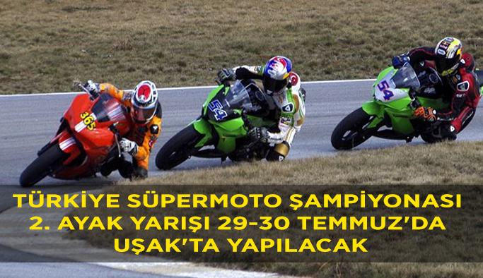 Uşak'ta Türkiye Süpermoto Şampiyonası Heyecanı