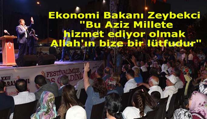 """Bakan Zeybekci : """"Bu Aziz Millete hizmet ediyor olmak Allah'ın bize bir lütfudur"""""""