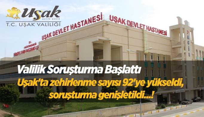 Uşak'ta hastanedeki Zehirlenme iddiası