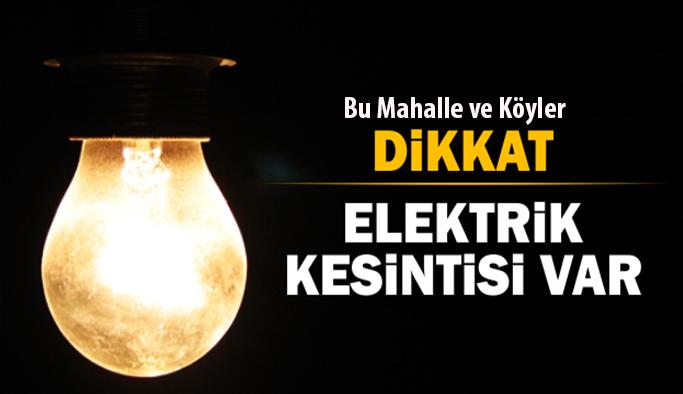 Uşak'ta Bu Mahalle ve Köyler Dikkat, Elektrik Kesintisi var