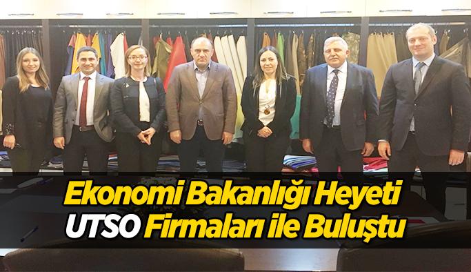 Ekonomi Bakanlığı Heyeti UTSO Firmaları İle Buluştu