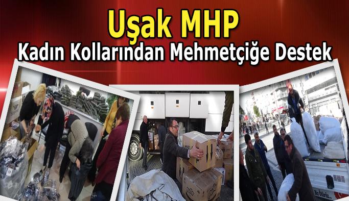 Uşak MHP Kadın Kollarından Mehmetçiğe Destek