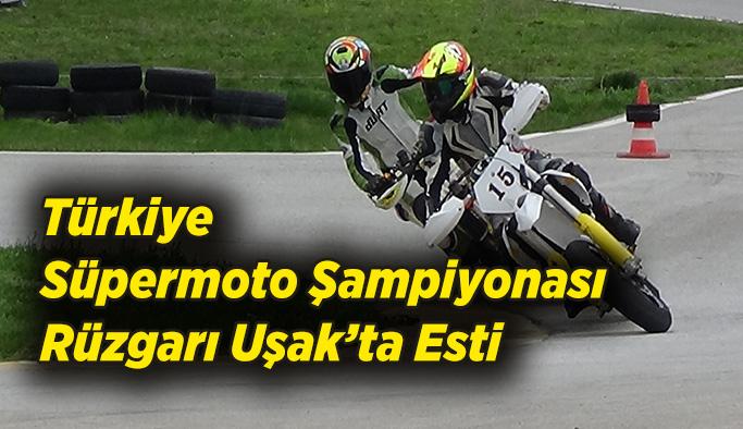 Uşak'ta Türkiye Süpermoto Şampiyonası Rüzgarı Esti