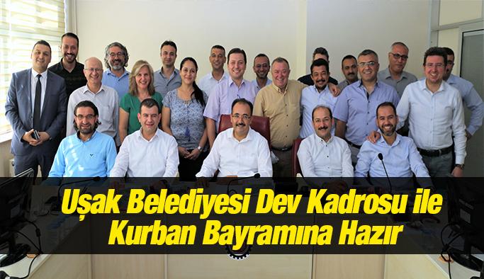 Uşak Belediyesi Dev Kadrosu ile Kurban Bayramına Hazır