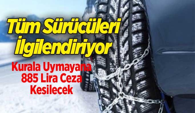 Milyonlarca sürücüyü ilgilendiriyor, Cezası 885 Lira