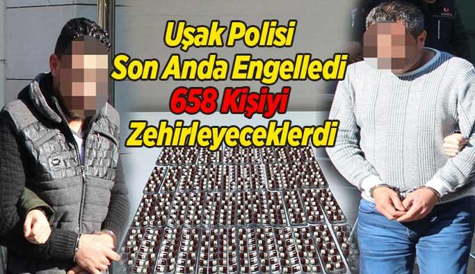 Uşak'ta Polis son Anda Engelledi, 658 Kişiyi Zehirleyeceklerdi